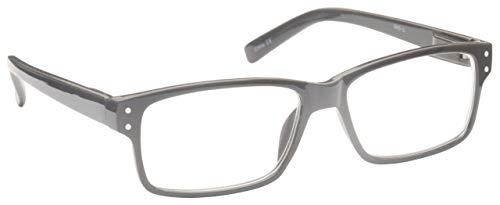 Solides Grau Kurzsichtig Fernbrille Kurzsichtigkeit Herren Damen Federscharniere M45-G Dioptrien -1,50