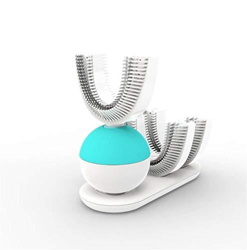 360°Wireless Lade Faul Automatische Elektrische Zahnbürste, automatische Doppel Zahnbürste Zähne Pinsel Whitening Weihnachten Weihnachtsgeschenk (Twin Zahnbürste Pack Elektrische)