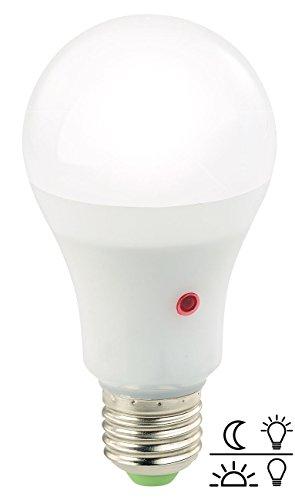 Luminea LED Leuchtmittel: LED-Lampe E27, Dämmerungssensor, 12 W, 1.000 lm, tageslichtweiß (Sensorlampen)