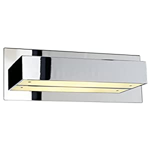 SLV Tani Wall Light, Angular, Chrome, R7s 118mm, max. 200W, Aluminium silver