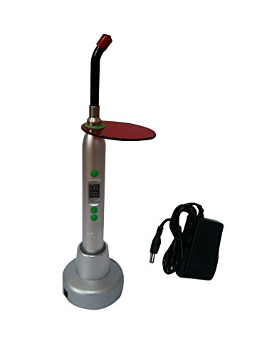 Preisvergleich Produktbild Bestdental 5 W LED Wireless Curing Light Cure Lamp 1400 mw (Silver)
