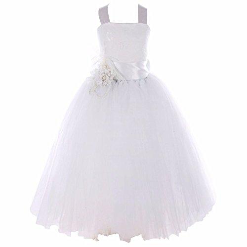 iEFiEL Blumen-Mädchen Kinder Festlich Festkleid Hochzeit Kommunionkleid Prinzessin 92 104 116 128...