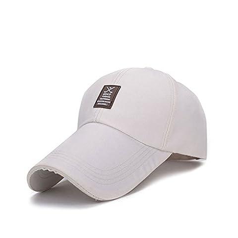 LUFA Männer Sun Hut Baseballmütze Mountaineering Cap Lengthen die Brim Hat hell beige&Einheitsgröße