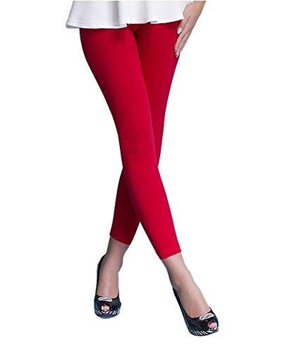 Infatti Leggings mujeres Long Cintura alta Algodón