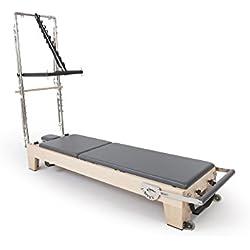 ELINA PILATES. Reformer DE Madera con Torre Elite - Sitúate en la vanguardia del Pilates con la Gama más Alta de Reformer desarrollado aportaciones de los técnicos de Pilates de Todo el Mundo.