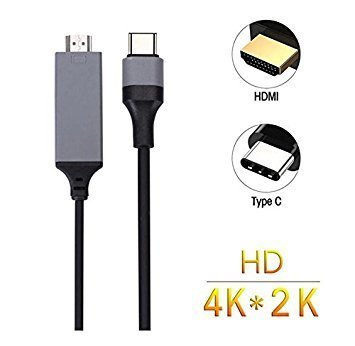 Subhah USB Type C to HDMI Cable,USB 3.1 Type C to HDMI Cable 4K 6inch for 2016 MacBook Pro, 2015 MacBook ,Samsung Galaxy S8/S8+ - Color may vary