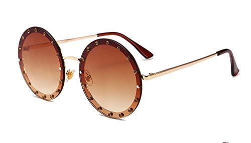 GFF 46007 Dame Round Sunglasses Shiny Diamond Frame Für Frauen Marke Brille Designer Fashion Männlich Weiblich