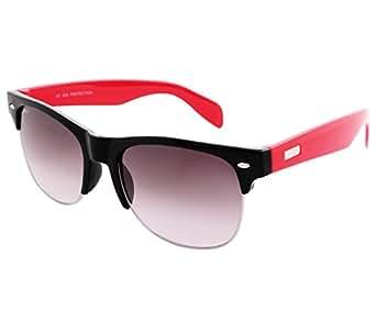 Laurels Uv Protected Wayfarer Unisex Sunglasses -(DNA-0301|Black Lens)