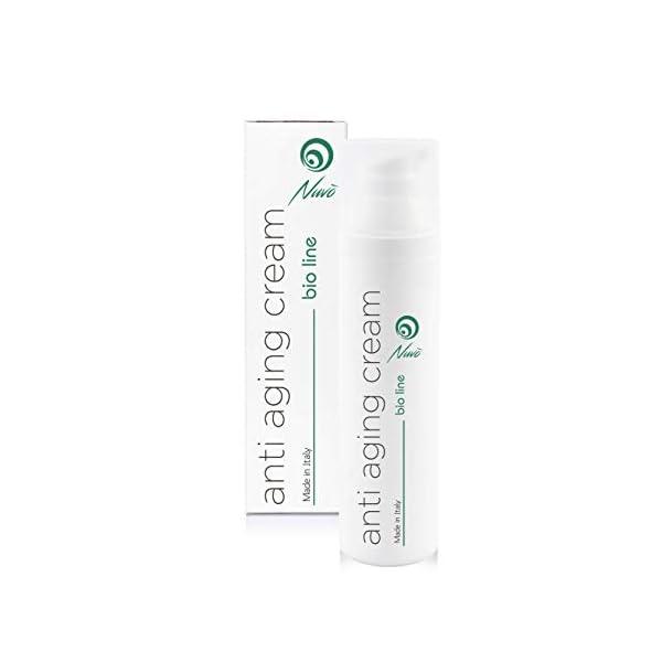 Nuvo' Crema Antiarrugas de Baba de Caracol Facial Hidratante y Antiedad – Orgánica Certificada AIAB – Maxi 75ml Acido…