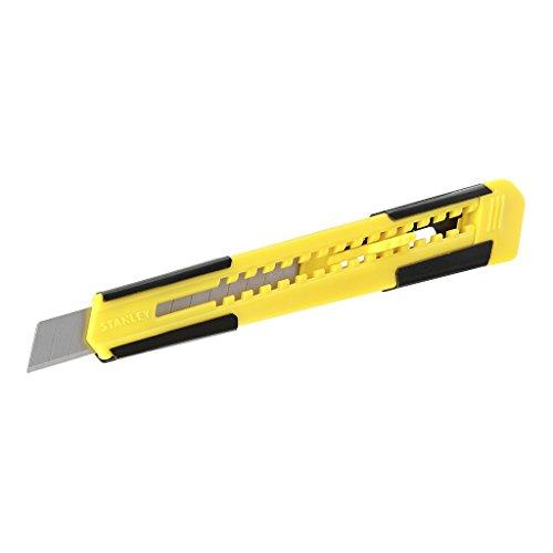 Stanley Cutter Metall-Kunststoff, mit Klinge 9mm Teppichmesser, gelb/schwarz