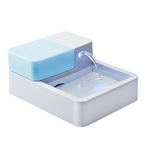 Automatic Cat or Dog Drinking Water Fountain Bowl with Filter and LED Night Light