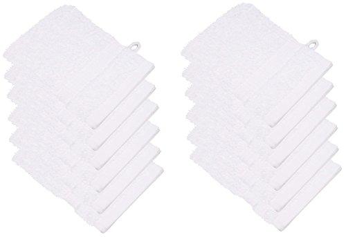 starlabels Serviettes Disponible en 15 couleurs et 5 dimensions doux saugstark 500 g/m², 100% coton, Öko Tex, Coton, Weiß, 15 cm x 21 cm