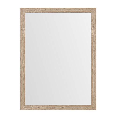 Espejo de Pared Beige de Madera MDF nórdico para decoración de 56 x 76 cm France - LOLAhome