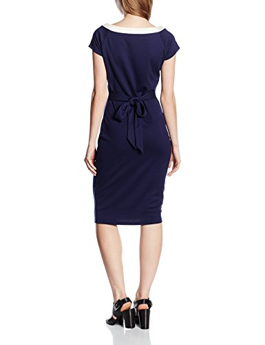 Fever - Plain - Moulante - Robe - Femme Bleu - Blue (Navy/Cream)