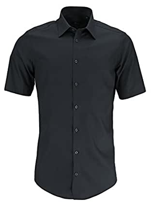 Venti Herren Hemd 100% Baumwolle - auch große Größen Slim Fit anthrazit 35/XXS
