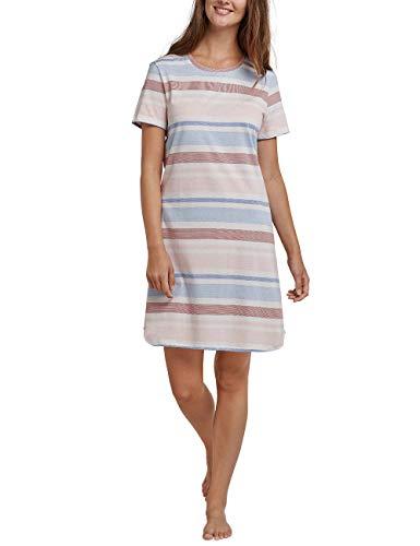 Schiesser Damen Sleepshirt 1/2 Arm, 90cm Nachthemd, Rot (Terracotta 532), 38 (Herstellergröße: 038) - Rote Damen Nachthemd