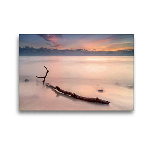Premium Textil-Leinwand 45 x 30 cm Quer-Format Fischerboot am Strand   Wandbild, HD-Bild auf Keilrahmen, Fertigbild auf hochwertigem Vlies, Leinwanddruck von HeschFoto