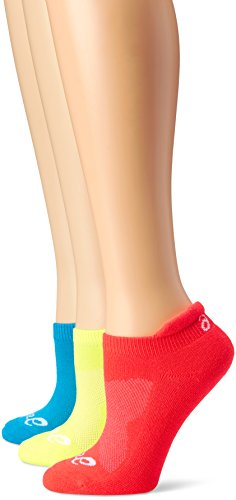 ASICS Women's Cushion Low Cut Sock (Pack of 3), Medium, Atomic Blue Assorted (Asics Socken Low-cut)