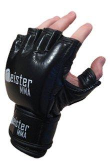 MMA Handschuhe, 200 g, Schwarz, schwarz,