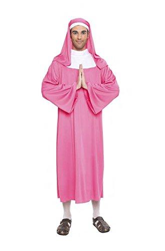 Imagen de disfraz monja color rosa talla m/l tamaño adulto