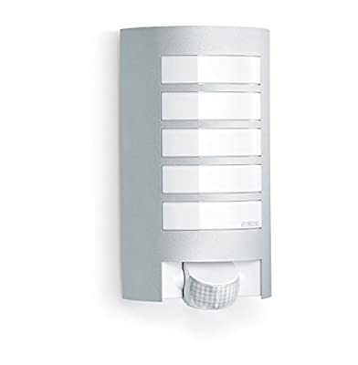 Steinel L 12 - Sensor switched outdoor light with 180° motion detector and max. 10 m reach, Wall light with aluminium trim panel, Design Lighting with motion sensor, Max. 60 Watts, E 27, 657918 - inexpensive UK wall light shop.