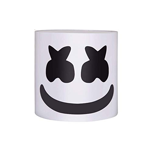 Wsjfc DJ Marshmallow Helm Maske, Music Festival Bar Essential Lights Requisiten, DJ Music Festival Maske Helm Party Neuheit Kostüm Helm Maske (Mode Und Kostüm Geschichte)