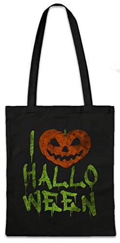 (Urban Backwoods I Love Halloween Hipster Bag Beutel Stofftasche Einkaufstasche)