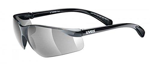 Uvex Flash Fahrrad / Sport Brille schwarz (black shiny/smoke) S5302792210 -