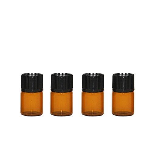 Amber-duft-Öl (Furnido 30 Stück 1ml / 2ml / 3ml nachfüllbar Amber Ätherisches Öl Flasche mit Orifice Reducer und Kappe Flüssigkeit Glasflaschen Tropfen Duft Öl Container Travel Mischöle Aromaöl (2ml))
