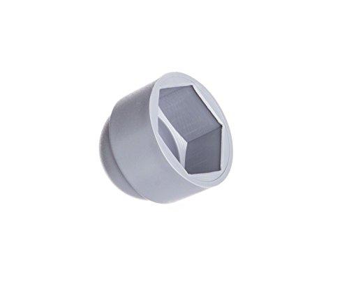 Preisvergleich Produktbild 25 Stck. Schutzkappen für Schrauben 14 Grau Abdeckkappen Blindstopfen Endkappen