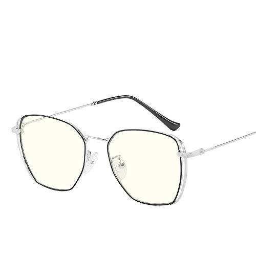 Sonnenbrillen Mode Stil der literarischen Männer und Frauen, die alte Weisen wiederherstellen Computersteuerungsrahmen-Gläser blaues Licht Männer und Frauen Lue Shading-Gläser für Studenten / Büroange
