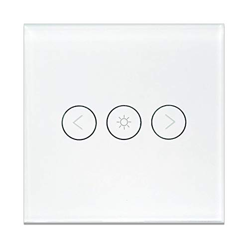 Smart Wlan Berühren Dimmer Schalter Kompatibel Mit Alexa Echo Timing Brighter Drahtlose Fernbedienbar Home Automation IFTTT [N Drahtbedarf ][No Hub Required] (WiFi Dim Light Switch White) (Installieren Lichtschalter Dimmer)