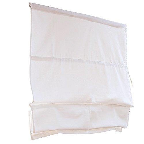 Loberon Faltrollo Fides, Baumwolle, H/B ca. 120/100 cm, weiß