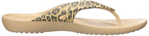 Crocs Kadeeiilprdflp, Chaussons Mules Femme Or (Gold)
