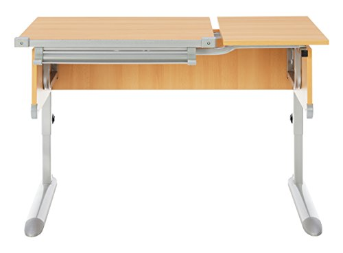 Kettler Kids Comfort ll Schülerschreibtisch – 6-fach höhenverstellbarer Kinderschreibtisch MADE IN GERMANY – flexible Tischplatte – höhen- und neigungsverstellbarer Schreibtisch – Buche & silber - 2