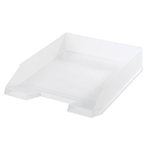 5x Ablagekorb / Briefkorb / Briefablage / transparent weiß