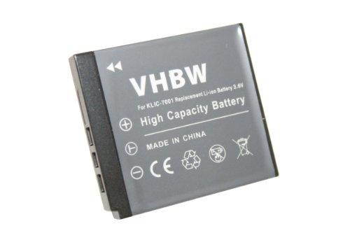 vhbw Akku 480mAh (3.6V) für Kodak Easyshare V550 V570, V610, V705, M320, M340, M753, M763, M853, M893 wie Klic-7001, DLi-213, VG0376122100001.