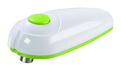 GOURMETmaxx Dosenöffner elektrisch Touch and Go, Elektrischer Dosenöffner zur Automatischen Dosenöffnung ohne Verletzungsgefahr, mit One Touch Schalter [Metall/ Kunststoff, limegreen]