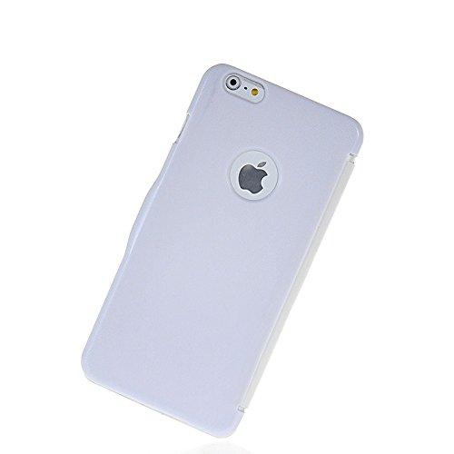 MOONCASE Blanc Bling Diamond Étui à rabat Housse de Protection Coque en Cuir Case pour Apple iPhone 6 Plus Blanc 01