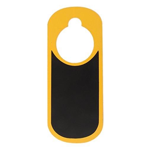Preisvergleich Produktbild Blank Zweiseitigen Mini-Holz-Türschild Schild Warnschild Schwarz Und Gelb