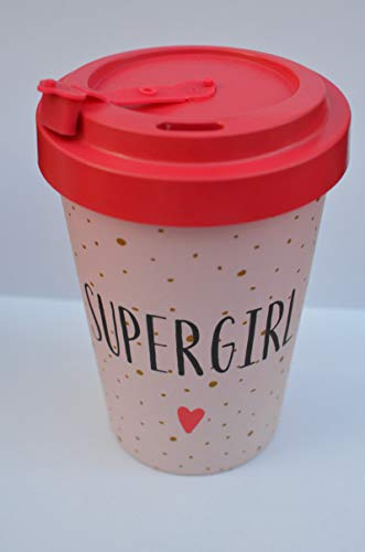 Blossify Bambusbecher Coffee-to-go Supergirl