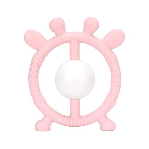 , Mr.Van 100% Medizinisches Soft Silikon BPA Free Baby Teether Spielzeug Geschenk Set Beißring für Schätzchen, Säugling und Kleinkind (Rosa) ()