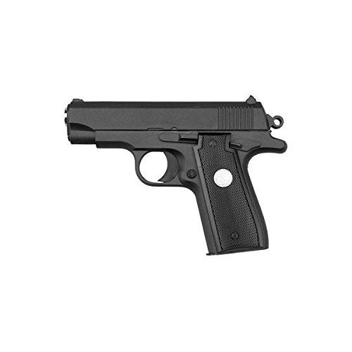 Galaxy - Pistola da softair G.2, tutto di metallo, 0,5 joule, colore nero, a molla/manuale