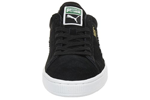 Puma Suede Classic Houndstooth Sneaker Shoes Ladies Wn's 359609 02 black black-white-team gold
