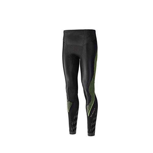 Mizuno Bg8000 Ii Premium Long, Pantalone da Corsa Uomo, Nero (Black/Green Gecko), L