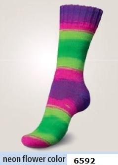 Regia 6-fädig Fluormania Color 6592 150g Sockenwolle