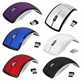 Galaxy Hi-Tech Latest 2.4G Wireless Foldable Mini Mouse USB Receiver for All Laptop