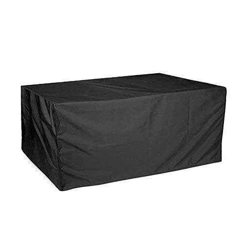 MAGFYLY Platz Möbel Cover, Indooroutdoor Wasserdichtes Esstisch Stuhl Set Cover, Durable Schutz Möbel Abdeckung for Garten Outdoor Indoor-Möbel, Schwarz (Size : 325x208x58cm) -