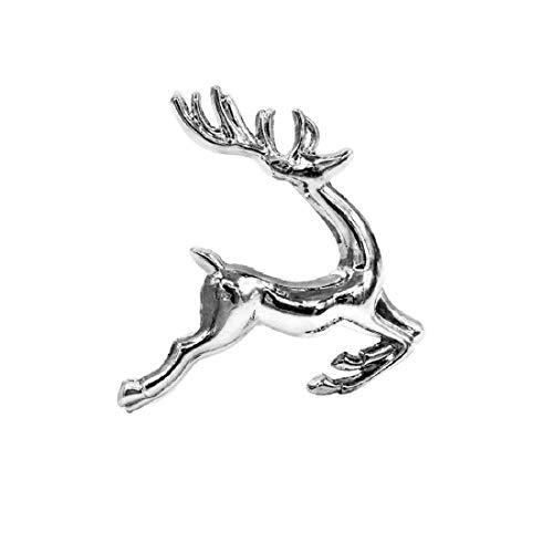 Yalulu 6 Stück Handgemachte Silber Gold Elche Hirsch Serviettenringe Serviette Halter Weihnachten Wedding Banquet Dinner Dekor (Silber)