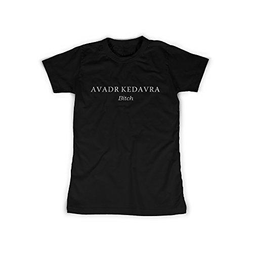 Frauen T-Shirt mit Aufdruck in Schwarz Gr. L Todesfluch Bitch Magie Design Girl Top Mädchen Shirt Damen Basic 100{7329e28a247a6d8a427b36f2a48d2686e5d27e13c42f62fc220c31e4b94823eb} Baumwolle Kurzarm